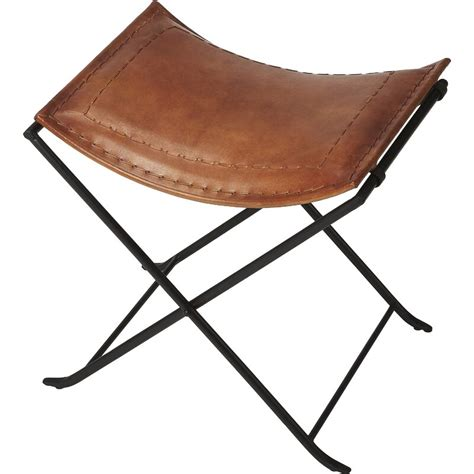 Melton Leather Stool