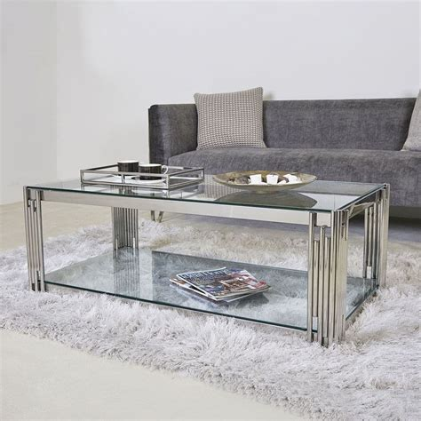 Mendell Stainless Steel Coffee Table