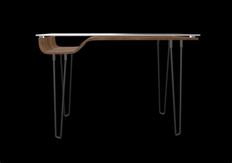 Metal 3d Model Lumisource Avery Desk Walnut  Cgtrader.
