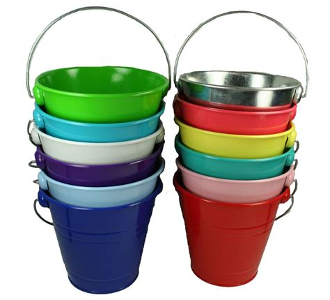 Metal Buckets With Handles  Ebay.