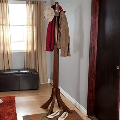 Metal with Solid Wood Hook Coat Rack