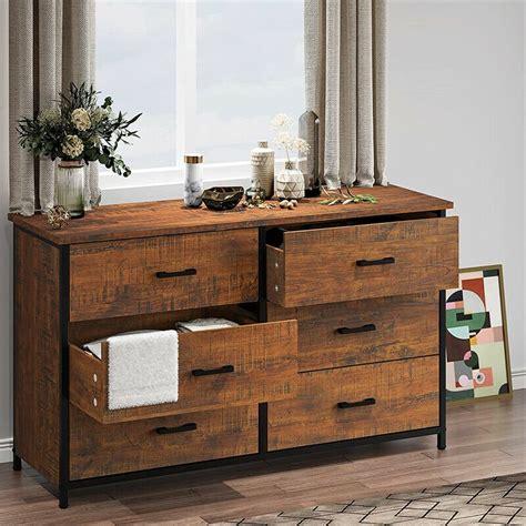 Metal Wood Industrial Dresser