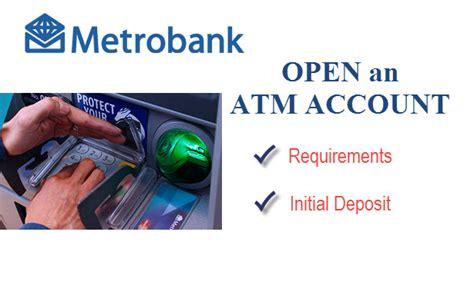 Metrobank Credit Card Atm Withdrawal Metrobank Opening Requirements For Passbook Savings