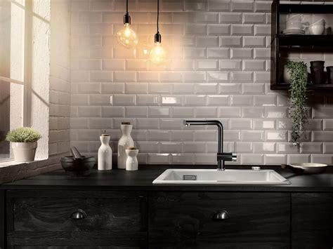 Metrotegels Keuken Zwart