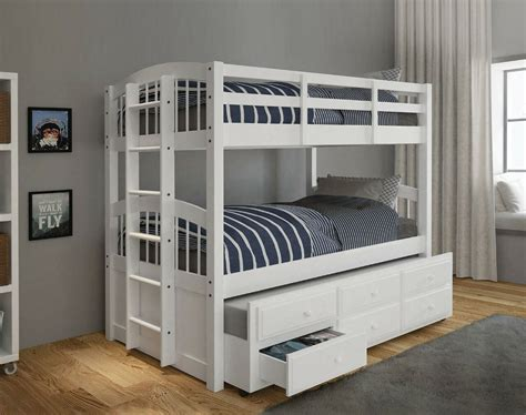 Micah Twin over Twin Bunk Bed with 3 Drawers byACME Furniture