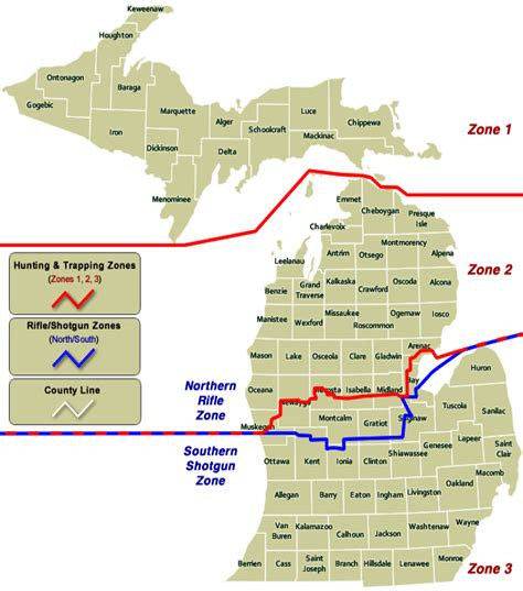 Gun-Shop Michigan Dnr Muzzleloader Season Zone Map.