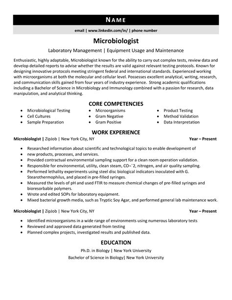 microbiology resume sample more resume samples best sample resume - Microbiologist Resume Sample