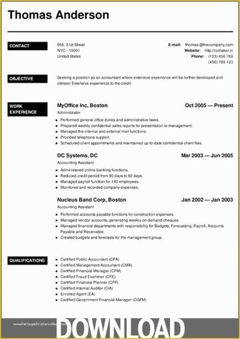 microsoft office resume builder free download   contract sales ... - Free Downloadable Resume Builder
