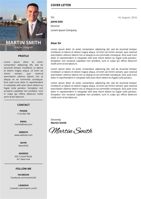 online cover letter templates