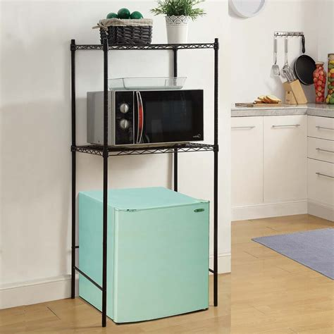 Microwave and Mini-Fridge Storage Rack