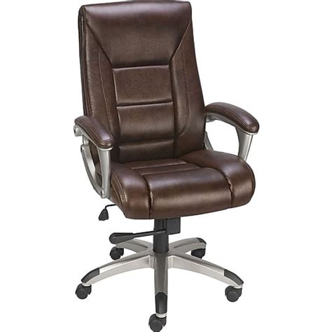Mid Back Bonded Leather Chair - Staples Inc .