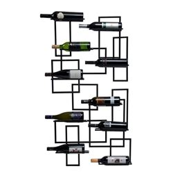 mid century 10 bottle wine rack