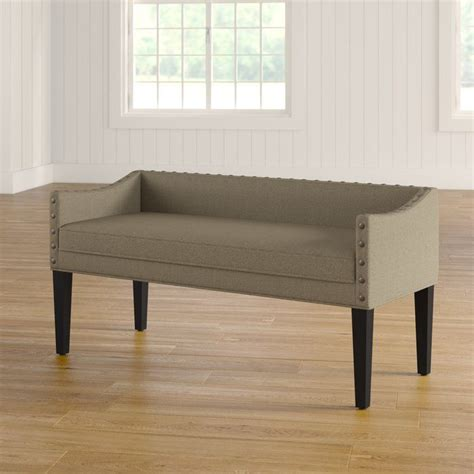 Miesha Solid Upholstered Bench