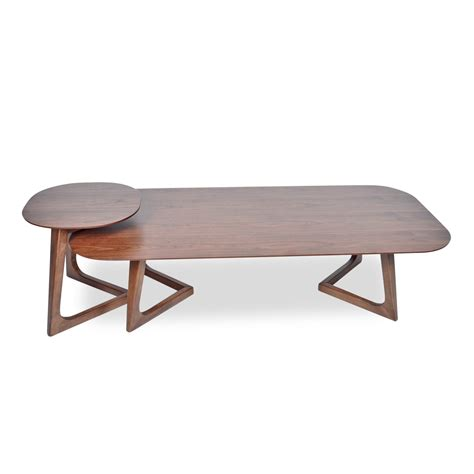 Miguel 2 Piece Wood Coffee Table Set