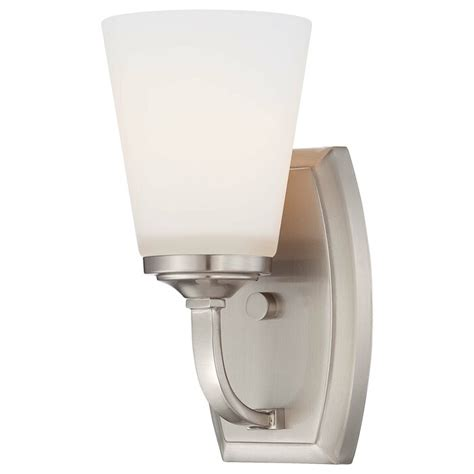 Mildred 1-Light Glass Bath Sconce