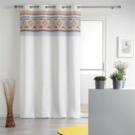 Milford Unlined Geometric Single Curtain Pane by