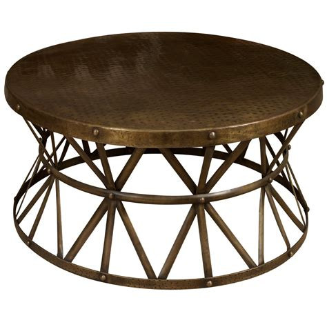 Millet Round Metal End Table