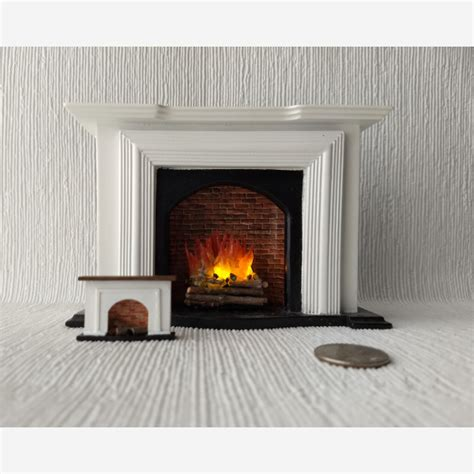 miniature wood fireplace for dollhouse