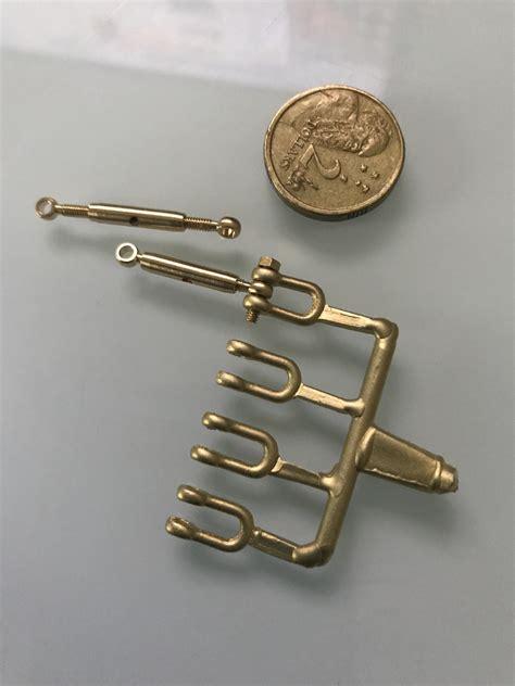 Brass Miniature Brass Turnbuckles.