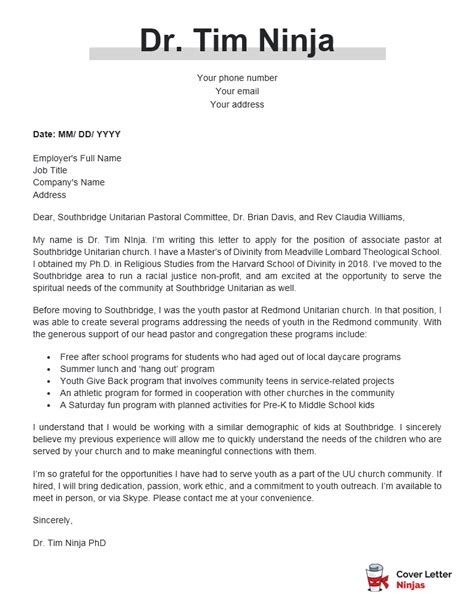 Resume Example  Cover Letter Examples Ideas Name Job Company   Cover Letter  Examples Ideas New