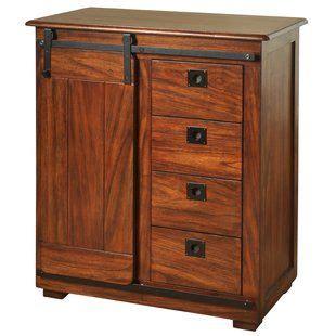 Miriam Storage 1 Door 4 Drawer Accent Cabinet