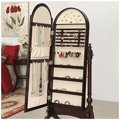 mirror jewelry armoire big lots