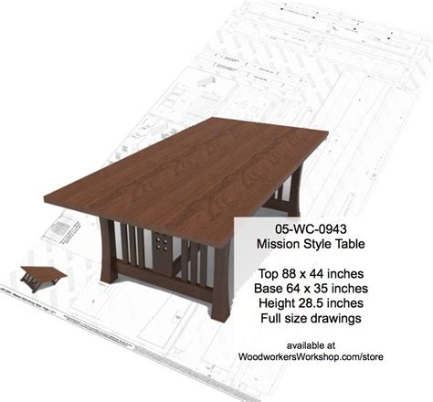 Mission Style Dining Table Plans