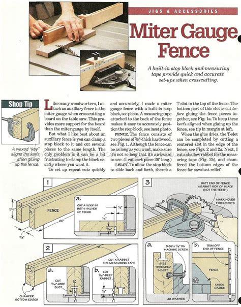 Miter Gauge Fence Woodworking Plan