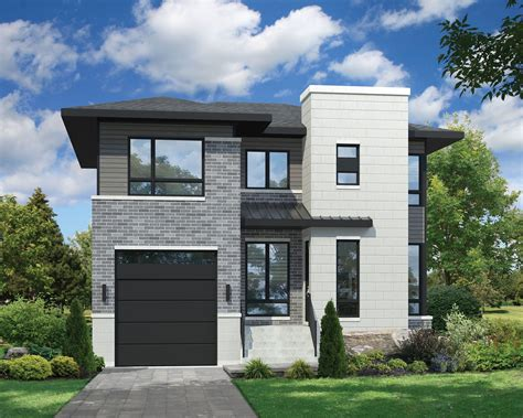 modern narrow house plans canada