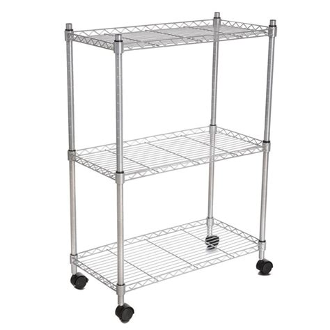 Modern 3-Tier Wheeled Shelving Unit