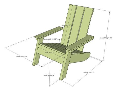 Modern Adirondack Chair Plans