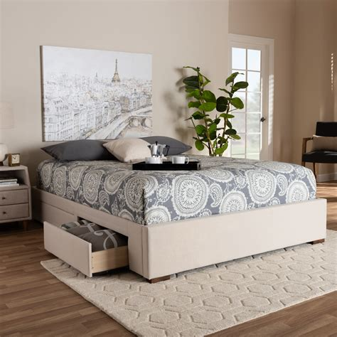Modern King Bed With Storage