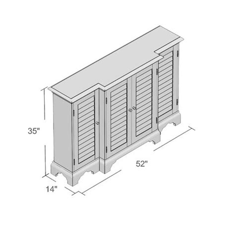 Molene 4 Door Accent Cabinet