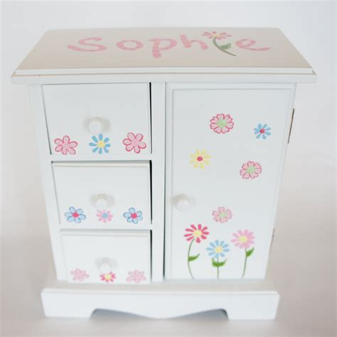 monogrammed jewelry box girls