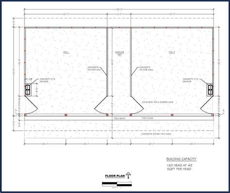 Monoslope Cattle Barn Plans
