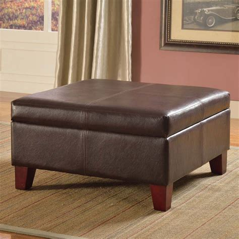 Montello Leather Storage Ottoman