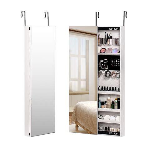 Moriah Over the Door Jewelry Armoire with Mirror