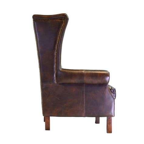 Moscow Leather Wingback Chair