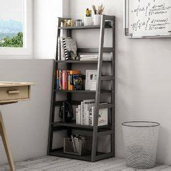 Mosquera 5 Tier Ladder Bookcase with Strong Metal Frame