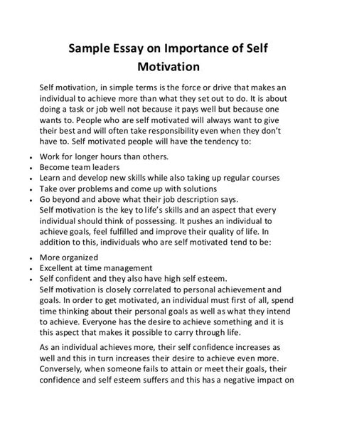 motivation essay sample resume for a teaching job motivation essay motivation essays essays on motivation