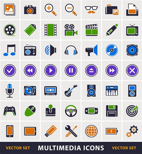 Credit Card Icons Set Multimedia Simple Icons Set Vector Free Download