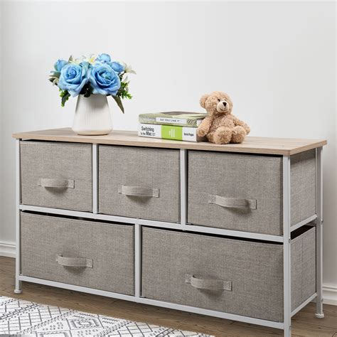 Murphysboro 5 Drawers Storage Shelf