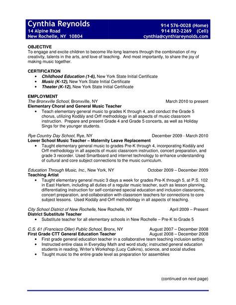 Sample Resume For Pre K Teacher Letters Of Resignation Example