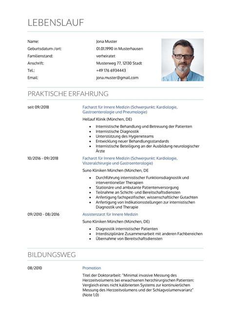 lebenslauf muster zivildienst muster fr den perfekten lebenslauf assistenzarzt rztin - Zivildienst Im Lebenslauf