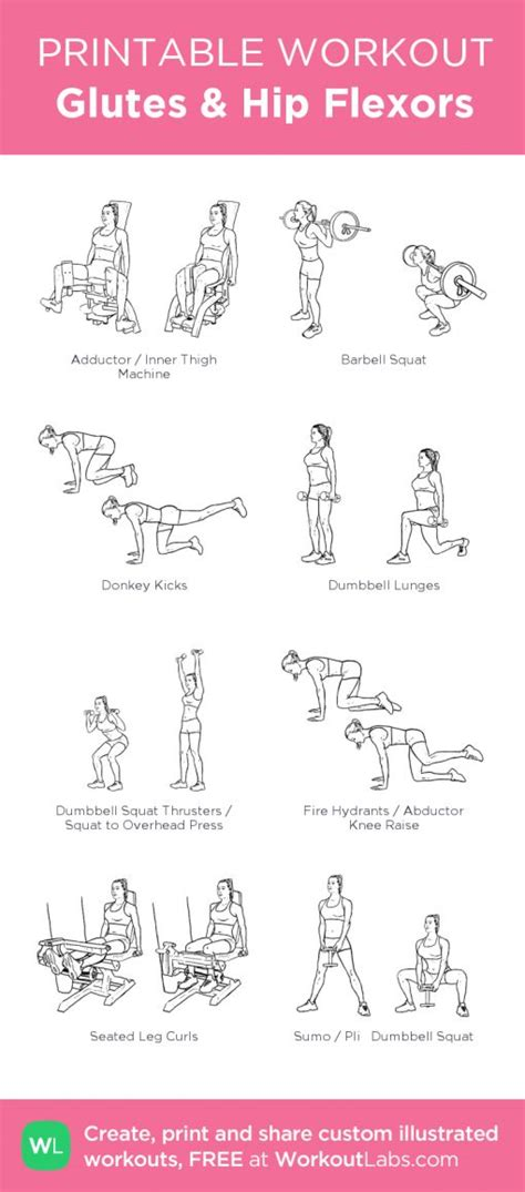 my hip flexor popsugar fitness printable workouts isolation