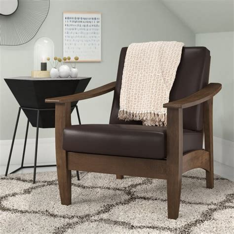Naccarato Faux Leather Armchair