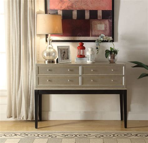 Nala Antique Silver 4 Drawer Accent Chest