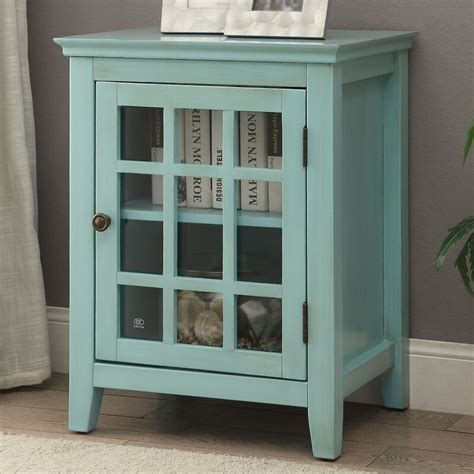 Naples Park Antique Single Door Accent Cabinet