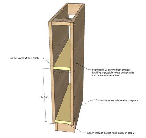 Narrow Cabinet Plans