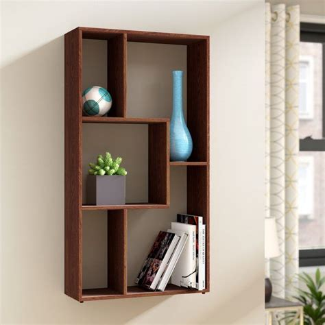 Natalie Multimedia Wall Mounted Standard Bookcase